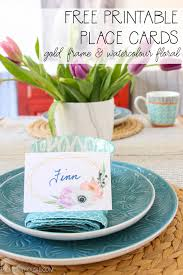Spring Photo Cards Free Printable Spring Watercolour Bohemian Floral Place