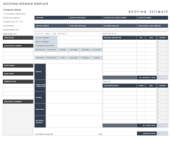free estimate forms templates free estimate templates smartsheet
