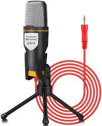 IUKUS PC Mikrofon, 3.5mm Computer Laptop Kondensator mikrofon Gaming Mikros  mit Ständer für Aufnahme,Singen,YouTube,Skype (3.5mm PC Microphone):  Amazon.de: Musikinstrumente