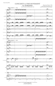 Concerto In One Movement For Marimba Wind Ensemble