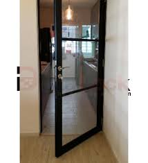 details my digital lock ing aluminium swing door