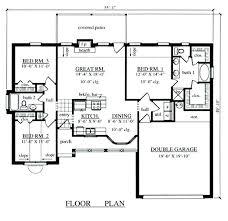 awful 3 bed 1 bath house plans three bedroom 2 bath house plan