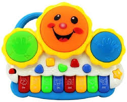 Kids Choice Drum Keyboard Musical Toys with Flashing Lights - Animal ...