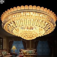 cheap lighting ideas. Simple New S Gold Circular Crystal Lamp Led Living Room Luxury Bedroom Ideas Ceiling Lights Rmy-099 Cheap Lighting P