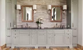 residence with gray bathroom vanity