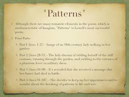Patterns By Amy Lowell Enchanting English 48 Modern Poetry