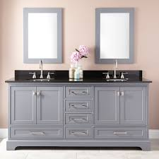 double vanity cabinet. Brilliant Double Double Doors Keep Your Items From View At Both Ends Of This Cabinet  Featuring A Gray Finish And Brushed Nickel Hardware The Quen Is Stylish Addition To  With Vanity Cabinet Signature Hardware