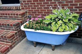 vintage bathtub with stand planter bathroom ideas