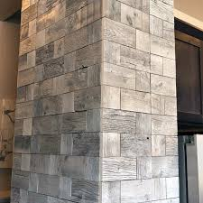 beam accent wall wood squares interior ideas