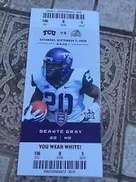 Details About 2016 Tcu Vs South Dakota State College Football Ticket Stub 9 3 Deante Gray