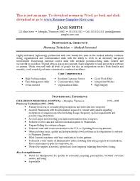 Pharmacist Resume Objective Sample Pharmacy Technician Objective musiccityspiritsandcocktail 61