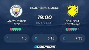 Manchester City - Borussia Dortmund » Live Score & Stream + Odds, Stats,  News