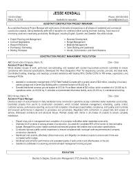 Best Project Manager Resume Construction Project Manager Resume
