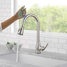 Faucets 42024 Touchless Kitchen Faucet Pull Down Sprayer Brushed