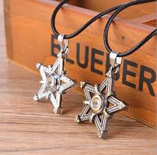 charm uni s men bronze silver stainless steel star pendant necklace chain