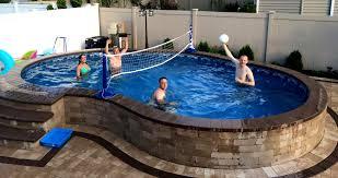 semi inground pool kits canada round designs