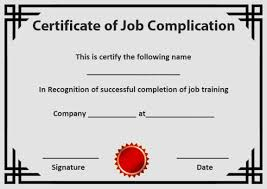 Certificate Of Training Completion Template Certificate Of Completion 22 Templates In Word Format