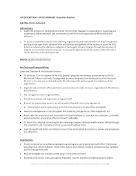 office manager sample job description office executive assistant key duties and responsibilities resume