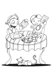 Coloring Page Eating Matza Click On