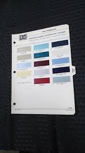 1965 Pontiac Color Chart 1965 65 Lincoln Continental Paint Color Chip Chart R M Sheet