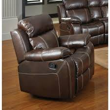 chestnut leather chair coaster company glider recliner with pillow arms desk chestnut leather chair