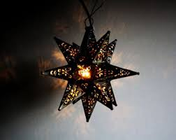 image of star light fixture glass
