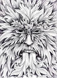 Small Picture 18 best Fantasy Coloring Green Man images on Pinterest
