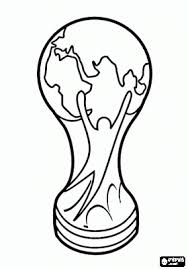 Small Picture FIFA World Cup Trophy coloring page soccer Pinterest FIFA