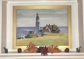 lighthouse and building portland head edward hopper