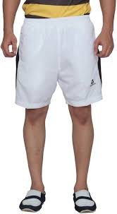 Aerotech Solid Mens White Sports Shorts Buy White