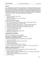 Resume Sample For Experienced Software Developer Refrence Software