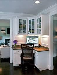 kitchen office nook. work desk in kitchen corner office nook