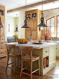 kitchen lighting ideas. rustic kitchen with industrial steel pendants lighting ideas
