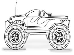 Small Picture Best Monster Truck Coloring Pages Easy Ideas Coloring Page