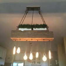 custom reclaimed barn wood beam chandelier lamps restaurant bar chandeliers light fixtures fixture diy