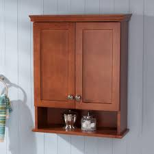 Image Impressive Over The Toilet Bathroom Storage Wall Cabinet In Amber The Home Depot Glacier Bay Lancaster 22 In 28 In In Over The Toilet