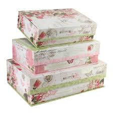 Decorative Storage Boxes Uk Pretty Floral Storage Boxes TriCoastal Pink and Green Floral 4