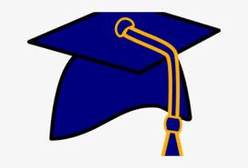 Download Gown Clipart Graduation Cap - Graduation Blue Hat Clipart - Full  Size PNG Image - PNGkit