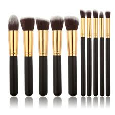 gold silver color high quality makeup brushes foundation powder eyeshadow brush kit tools brushes