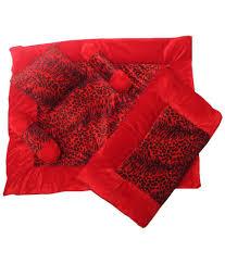 silver stone red velvet 5 piece baby bedding set