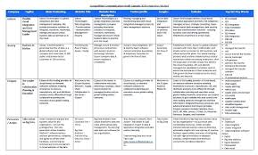 Competitor Research Template Example Of Competitor Analysis Establishing The Competitive The