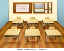classroom table vector. illustration of a classroom with table and chairs vector t