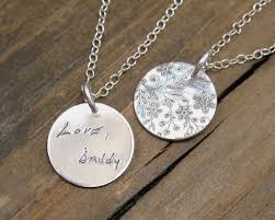personalized necklace actual handwriting jewelry memorial jewelry bridesmaid gift