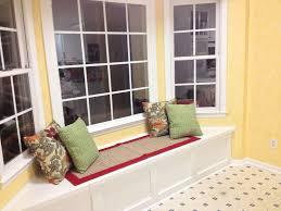 Window Seat Decorations Splendid Bay Window Seat Cushion Canvas Cover On