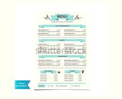 Lunch Menu Templates Free Word Format Download Cafe Template