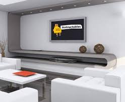 Wall Design For Flat Screen Tv Flat Screen Tv Wall Mount 8 Steps Instructables