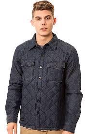 WeSC Jacket Quilted Shirt in Midnight Blue - Karmaloop.com & The Quilted Shirt Jacket in Midnight Blue Adamdwight.com