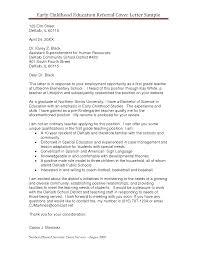Cover Letter Preschool Teacher Cover Letter Cover Letter Of