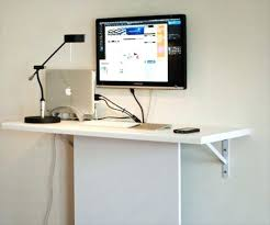 Wall mounted computer desk mount cheap and easy use ideas desks competent  depict