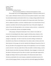 prose writing the other paris lindsay lastinger ms carver ap  4 pages prose writing arun